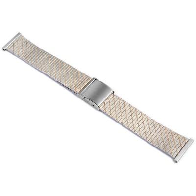Bratara ceas, otel inoxidabil, bicolor, 18 mm, 823010000118