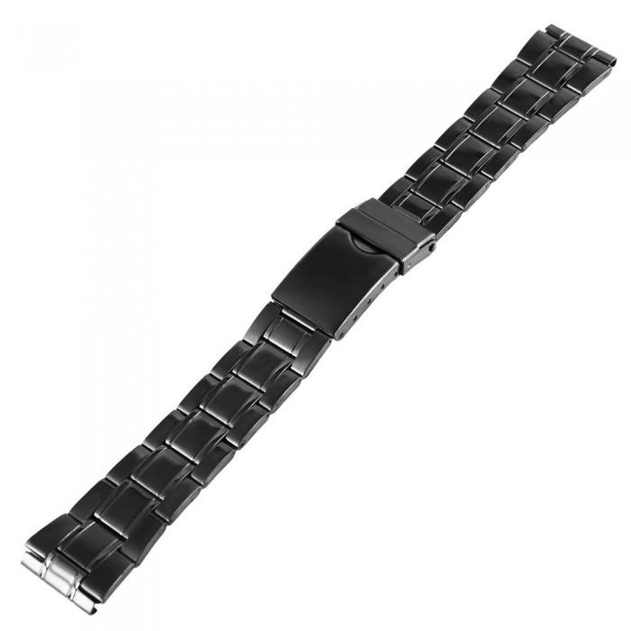 Bratara ceas, otel inoxidabil, neagra, 18 mm, 8171518054