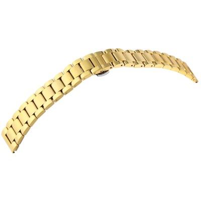 Bratara ceas, otel inoxidabil, auriu, placare IPGold, 20 mm, 185-200