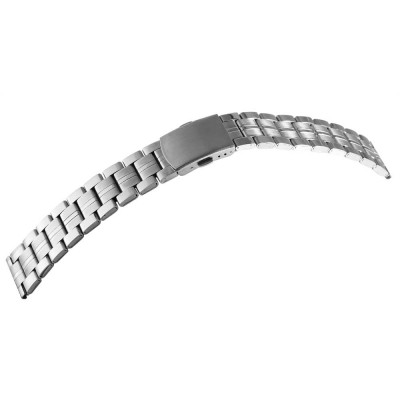 Bratara ceas, otel inoxidabil, argintiu, 18 mm, 167-180