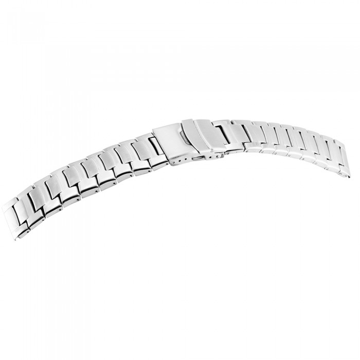 Bratara ceas, otel inoxidabil, argintiu, 24 mm, 165-240