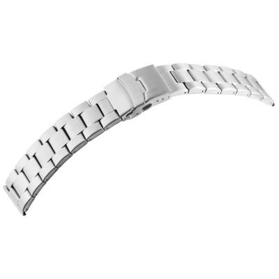 Bratara ceas, otel inoxidabil, argintiu, 20 mm, 191-200