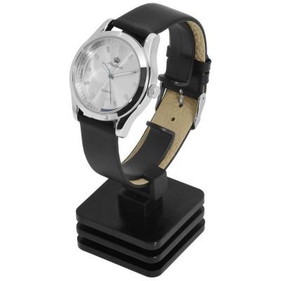 Suport prezentare ceasuri, material plastic, negru, ABC07